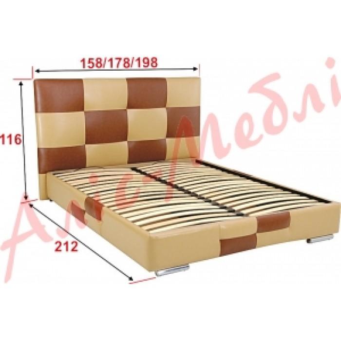 """Кровать Мега 180 """"Алис-Мебель"""""""