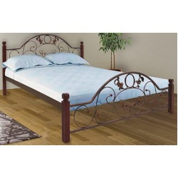 """Кровать Франческа на деревянных ножках 140х200 """"Металл-Дизайн"""""""