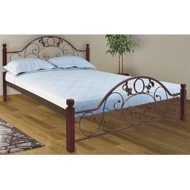 """Кровать Франческа на деревянных ножках 140х190 """"Металл-Дизайн"""""""