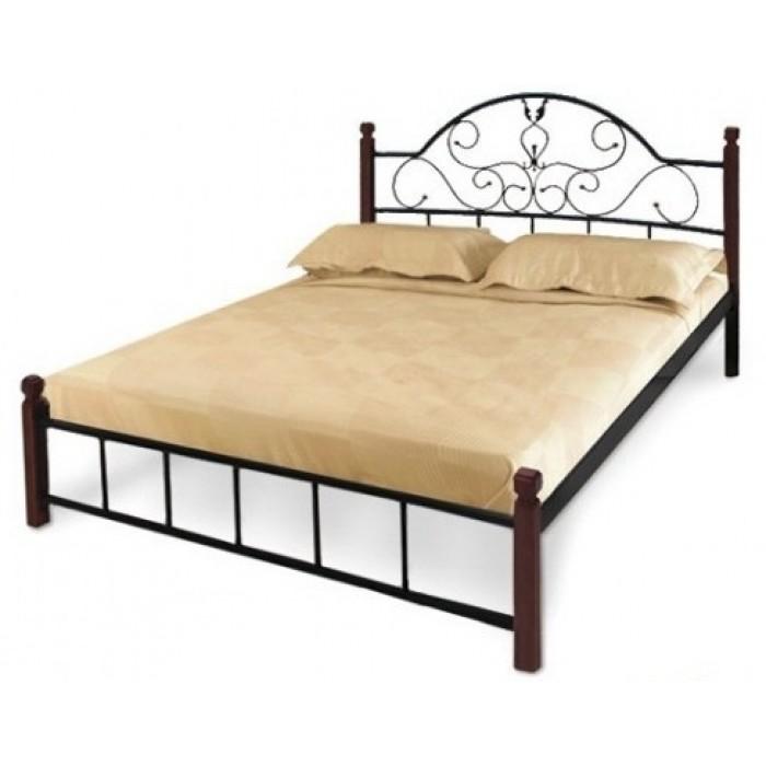 """Кровать Анжелика на деревянных ножках 140х200 """"Металл-Дизайн"""""""