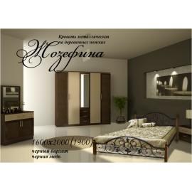 """Кровать Жозефина на деревянных ножках 160х200 """"Металл-Дизайн"""""""