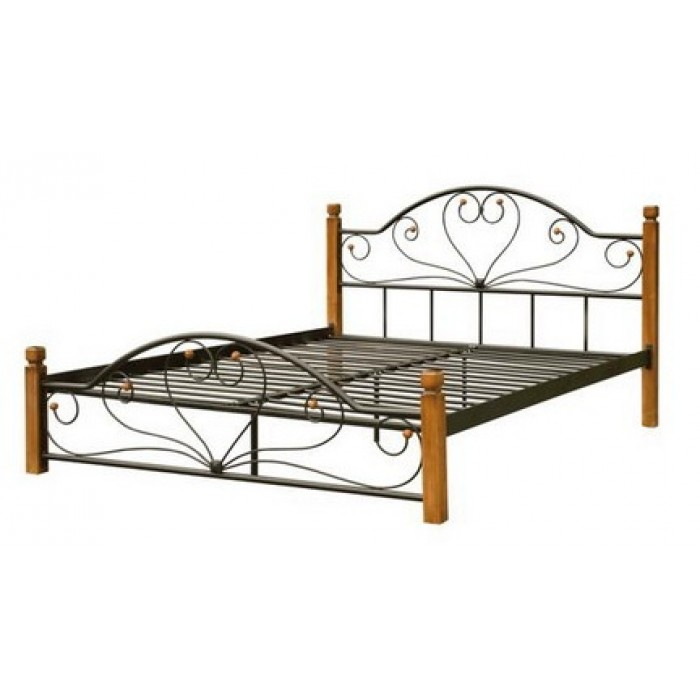 """Кровать Диана на деревянных ножках 180х200 """"Металл-Дизайн"""""""