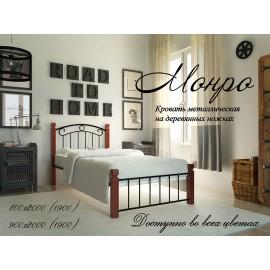 """Кровать Монро на деревянных ножках 80х200 """"Металл-Дизайн"""""""