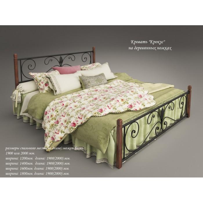 """Кровать Крокус мини на деревянных ногах 90*190 """"Tenero"""""""