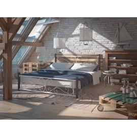 """Кровать Нарцис на деревянных ногах 140*200 """"Tenero"""""""