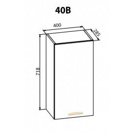 """Навесной шкаф 40ВВ Кармен """"Мебель Сервис"""""""