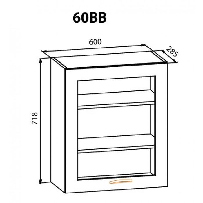 """Навесной шкаф 60ВВ Кармен """"Мебель Сервис"""""""