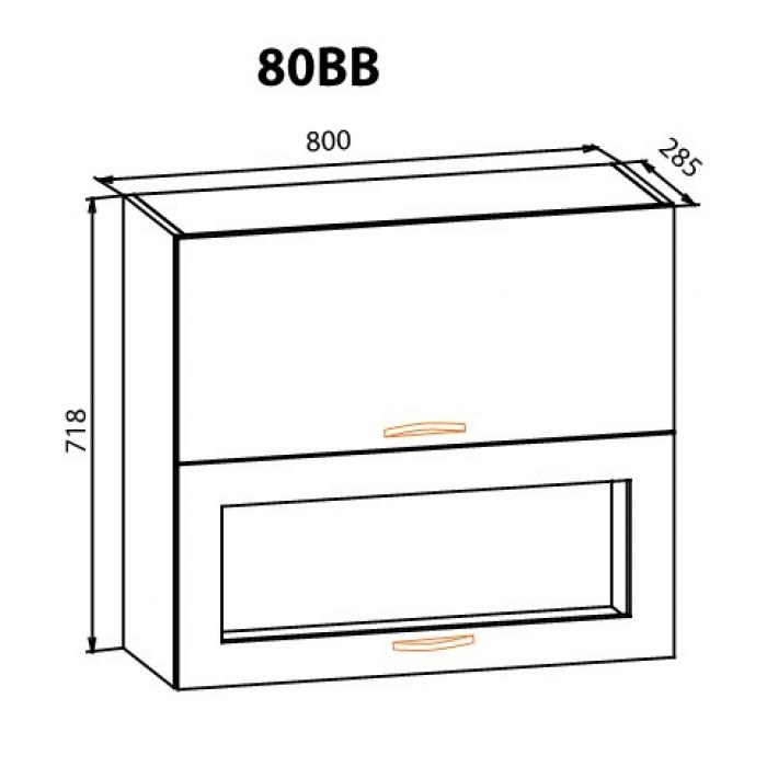 "Навесной шкаф 80ВВГ Кармен ""Мебель Сервис"""