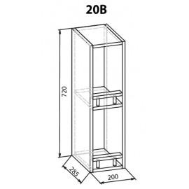 """Навесной шкаф 20 верх Роял """"Мебель Сервис"""""""
