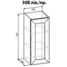"""Навесной шкаф 30 верх Роял """"Мебель Сервис"""""""