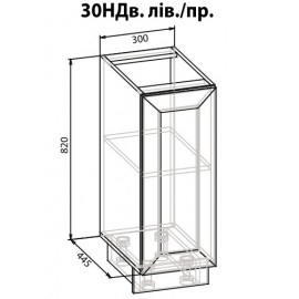 "Тумба 30 низ полка Роял ""Мебель Сервис"""