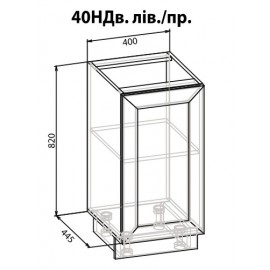 "Тумба 40 НД Роял ""Мебель Сервис"""