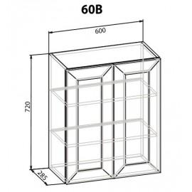 """Навесной шкаф 60 верх Роял """"Мебель Сервис"""""""