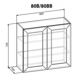 """Навесной шкаф 80 ВВ Роял """"Мебель Сервис"""""""