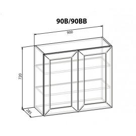"""Навесной шкаф 90 ВВ Роял """"Мебель Сервис"""""""