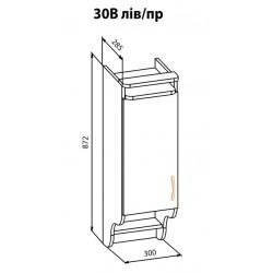 """Навесной шкаф  30В Корона """"Мебель Сервис"""""""