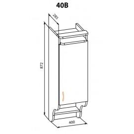 """Навесной шкаф  40В Корона """"Мебель Сервис"""""""