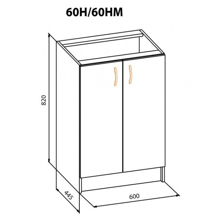 "Тумба 60 НМ Корона ""Мебель Сервис"""