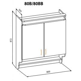 """Навесной шкаф  80ВВ Корона """"Мебель Сервис"""""""