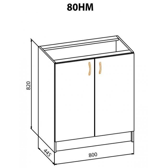 "Тумба 80НМ Корона ""Мебель Сервис"""