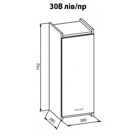 """Навесной шкаф 30 верх Терра+ """"Мебель Сервис"""""""