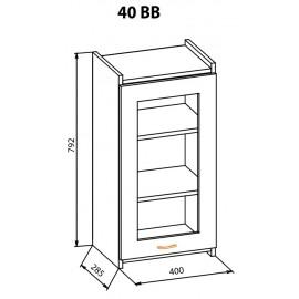 """Навесной шкаф 40ВВ Терра+ """"Мебель Сервис"""""""