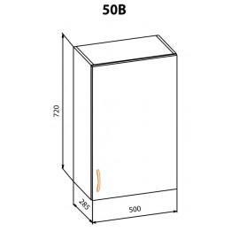 """Навесной шкаф 50 верх Терра+ """"Мебель Сервис"""""""