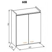"""Навесной шкаф 60 верх Терра+ """"Мебель Сервис"""""""
