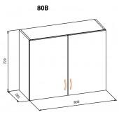 """Навесной шкаф 80 верх Терра+ """"Мебель Сервис"""""""