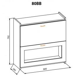 """Навесной шкаф 80 ВВ Терра+ """"Мебель Сервис"""""""