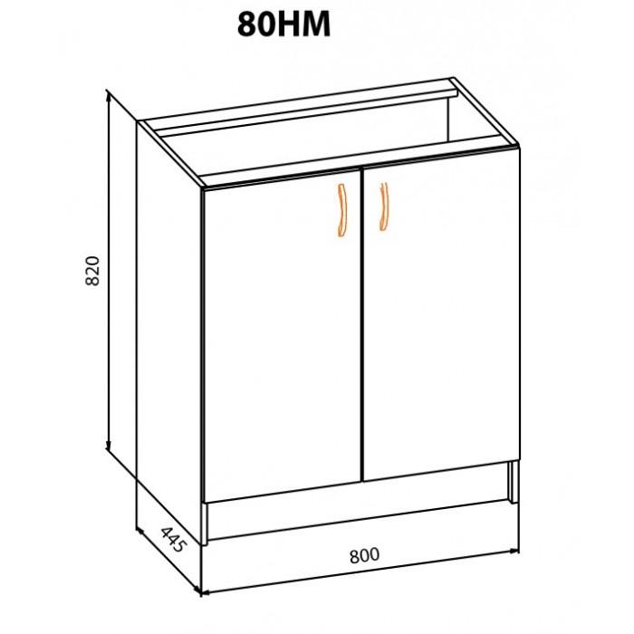 "Тумба 80 НМ Терра+ ""Мебель Сервис"""