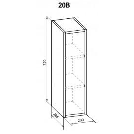 """Навесной шкаф 20 верх Паула """"Мебель Сервис"""""""