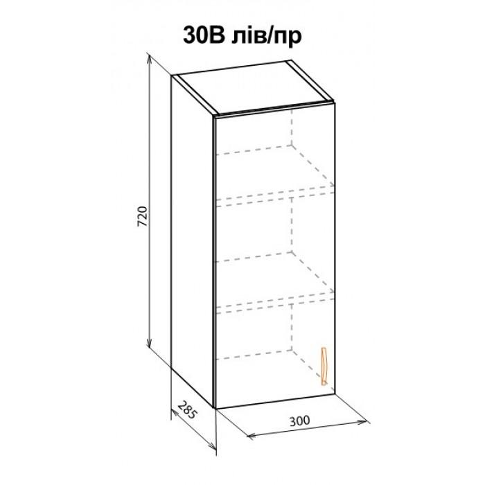 "Шкаф навесной 30В Жасмин ""Мебель Сервис"""