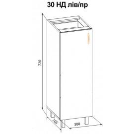 "Тумба 30 низ Паула ""Мебель Сервис"""