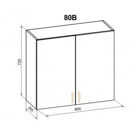 """Навесной шкаф 80 верх Паула """"Мебель Сервис"""""""