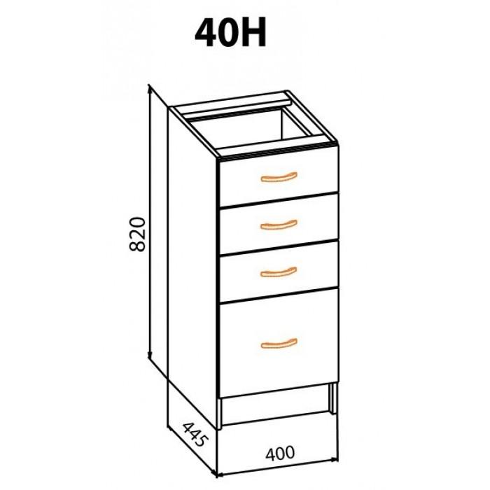 """Тумба 40 НШ Алина """"Мебель Сервис"""""""