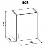 """Навесной шкаф 50 верх Алина """"Мебель Сервис"""""""