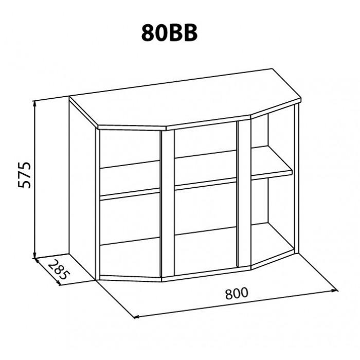 """Навесной шкаф 80 ВВ Алина """"Мебель Сервис"""""""