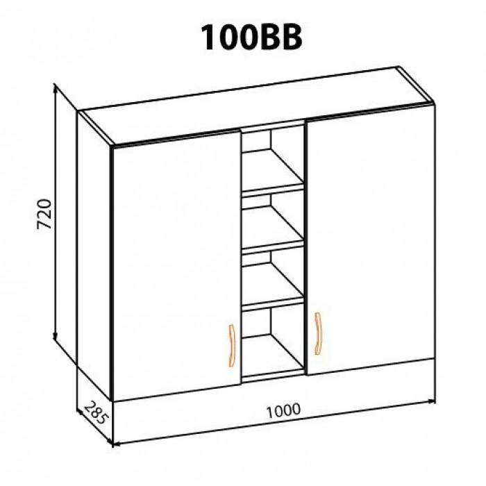 """Навесной шкаф 100ВВ Оля """"Мебель Сервис"""""""