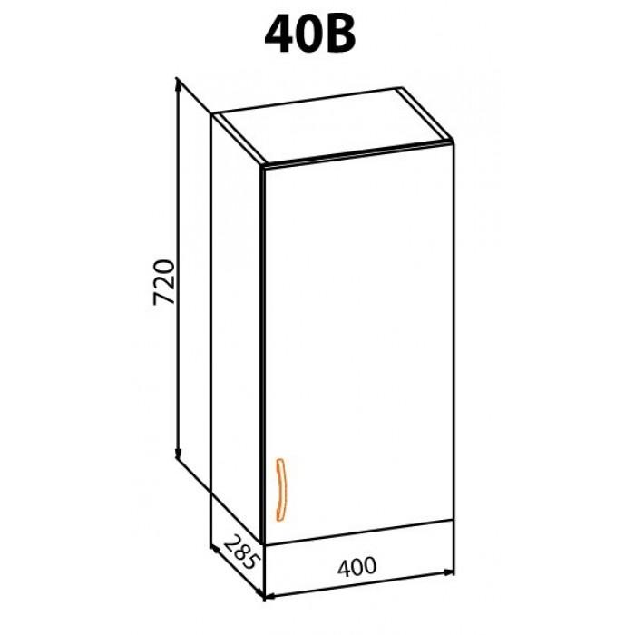 """Навесной шкаф 40В Оля """"Мебель Сервис"""""""