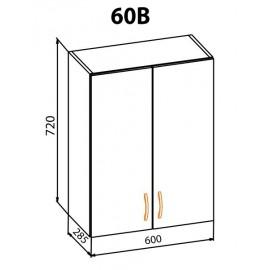 """Навесной шкаф 60В Оля """"Мебель Сервис"""""""