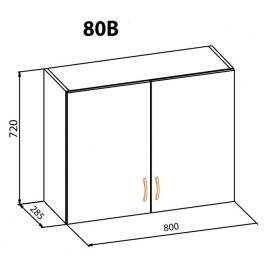 """Навесной шкаф 80В Оля """"Мебель Сервис"""""""