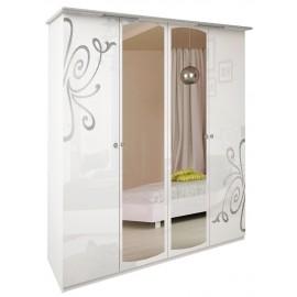 """Богема шкаф 4Д  белый глянец """"Миро Марк"""""""