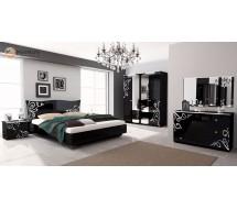 """Спальня Богема 4Д черный глянец """"Миро Марк"""""""