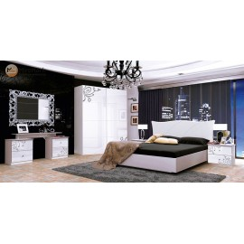 "Спальня Богема 4Д ,белый глянец ""Миро Марк"""